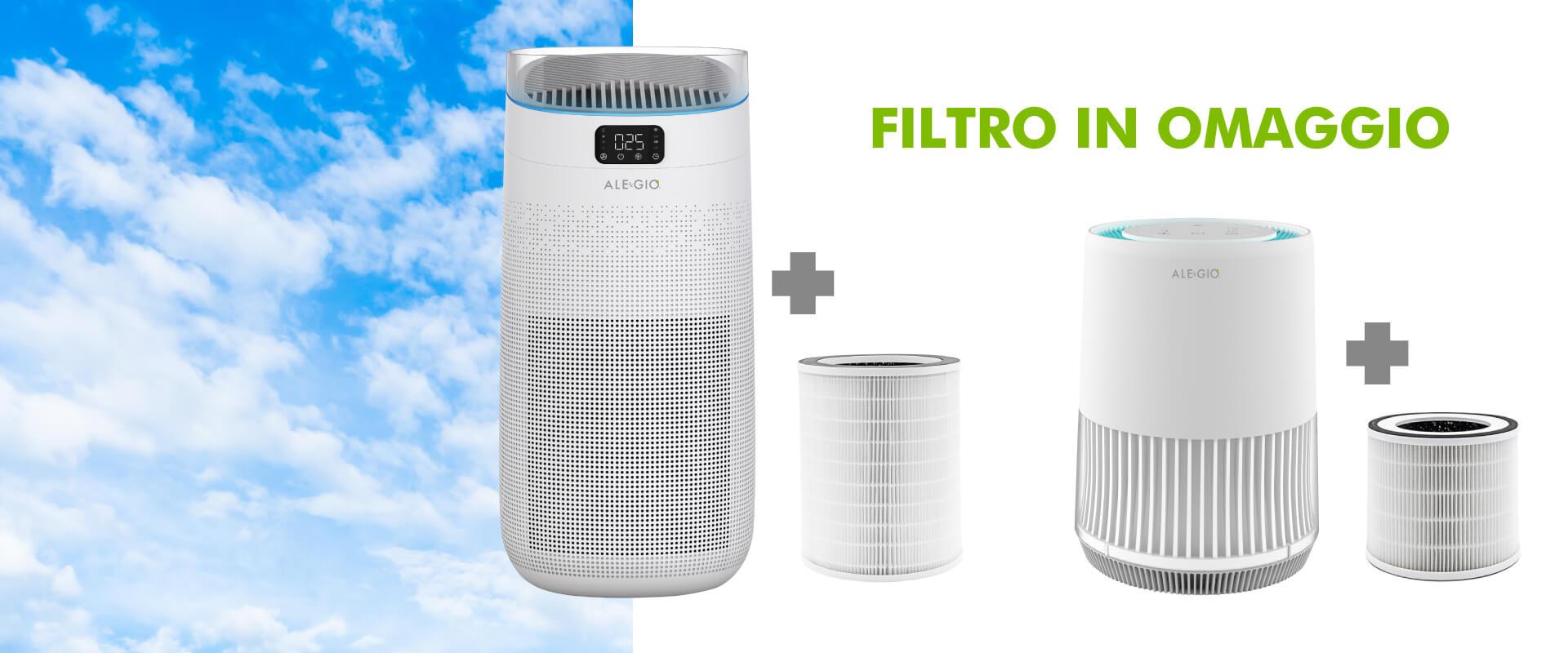 filtro purificatore aria omaggio